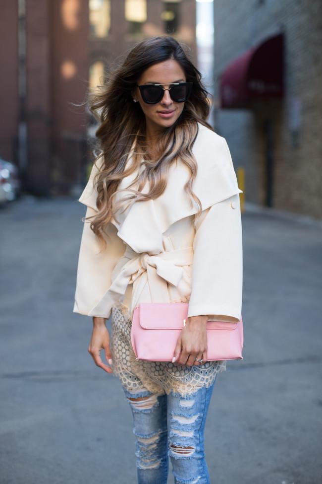 Lace Trench Coat  Mia Mia Mine