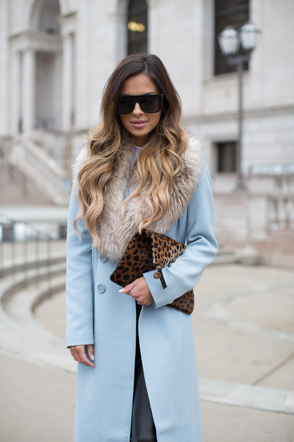 Powder Blue Coat  Mia Mia Mine
