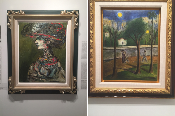 LEFT: Second Portrait of Flora by Rene Portocarrero, RIGHT: Victor Manuel Garcia. (Photo by Monica Torres)