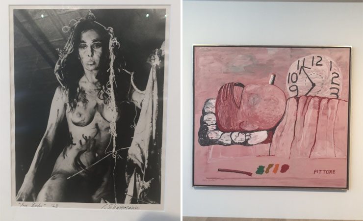 LEFT: Carolee Scheemann Eye Body: 36 Transformative Actions for Camera, 1963 | RIGHT: Philip Guston, Pittore