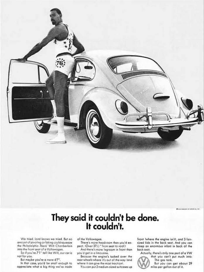 VW Bug with Wilt Chamberlain