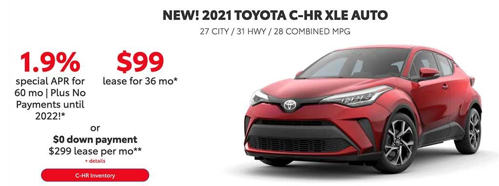 NEW! 2021 TOYOTA C-HR XLE AUTO