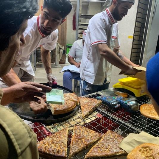 iranian street food, date bread in Iran