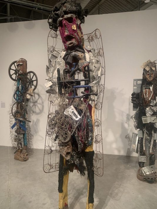 Haitian sculptures with found objects, Haitian art Miami, Haitian art MOCA