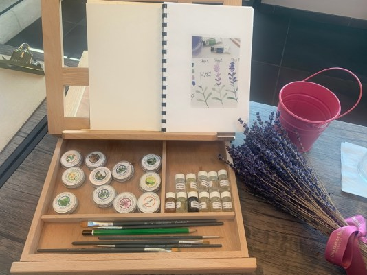 painting with scents, different painting classes, lavender museum, MiamiCurated, provence travel