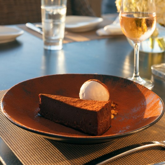 flourless chocolate cake, waterfront dining in miami, waterfront restaurants in miami, miamicurated