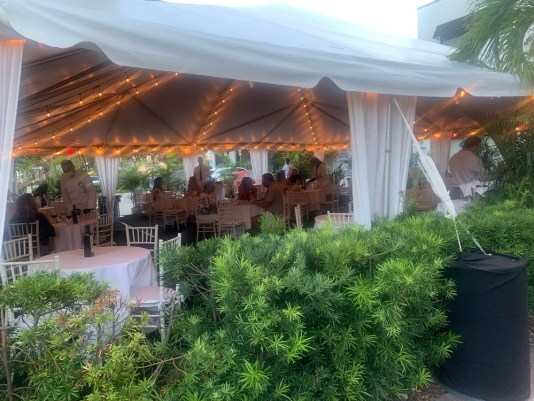 milos miami outdoor dining, miamicurated