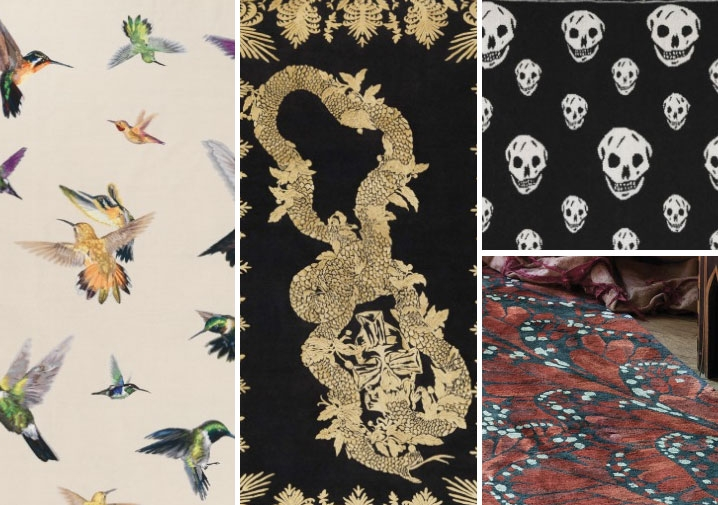 Walking on Alexander McQueen The fashion brands latest now at The Rug Company