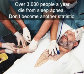 3000 people a year die from sleep apnea