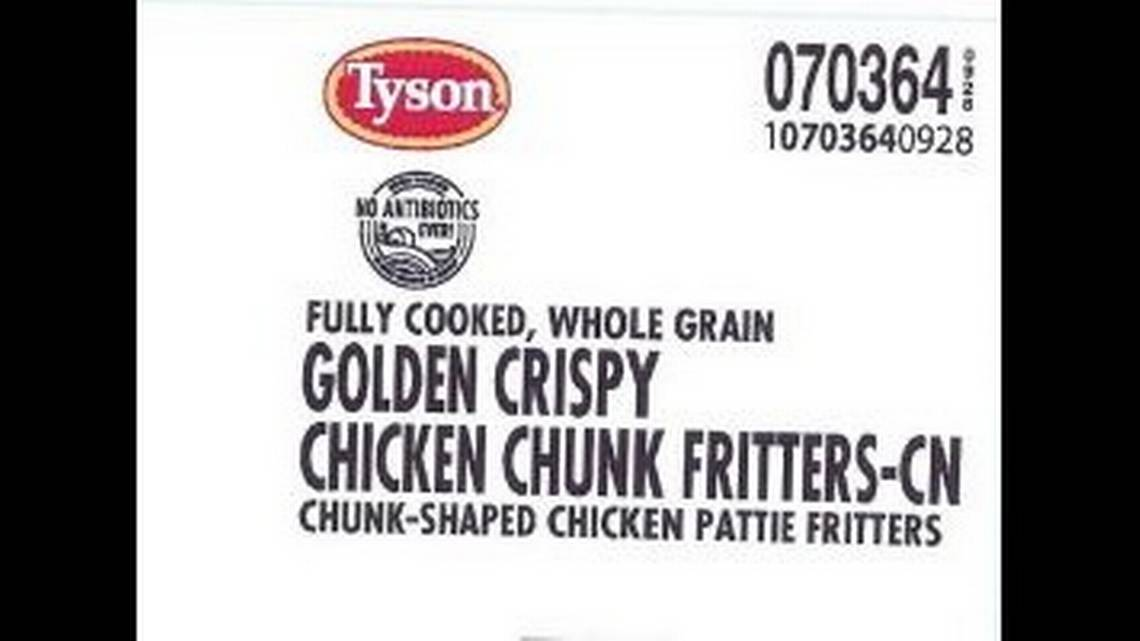 Plastic in school chicken fritters causes Tyson Foods