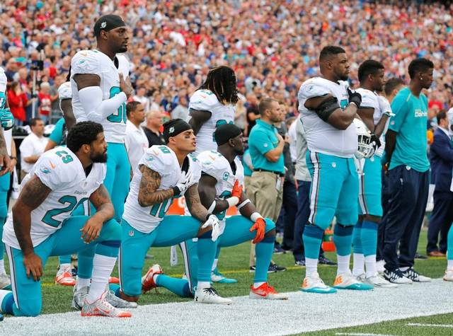 Image result for miami dolphins take a knee
