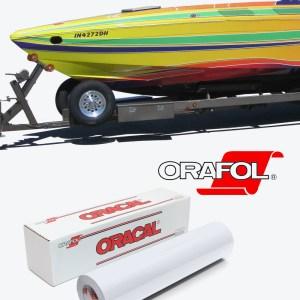 ORAJET 3640 3 Mil Economy Grade PVC Matte or Gloss White Vinyl with Permanent Adhesive.