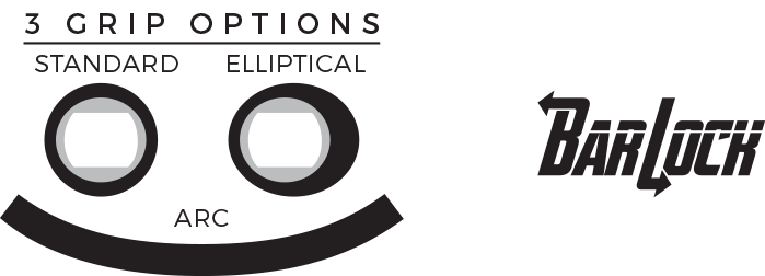 Radar Control Elliptical Handle with 8-Section