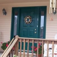 Door Replacement - Builder's Grade Dented Steel Door - Before