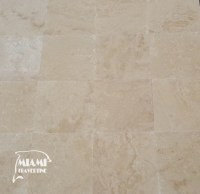 TRAVERTINE TILE FILLED HONED 18X18 IVORY CLASSIC  Miami ...