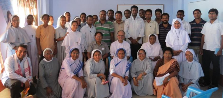 Archbishop after the Animation with the Participants