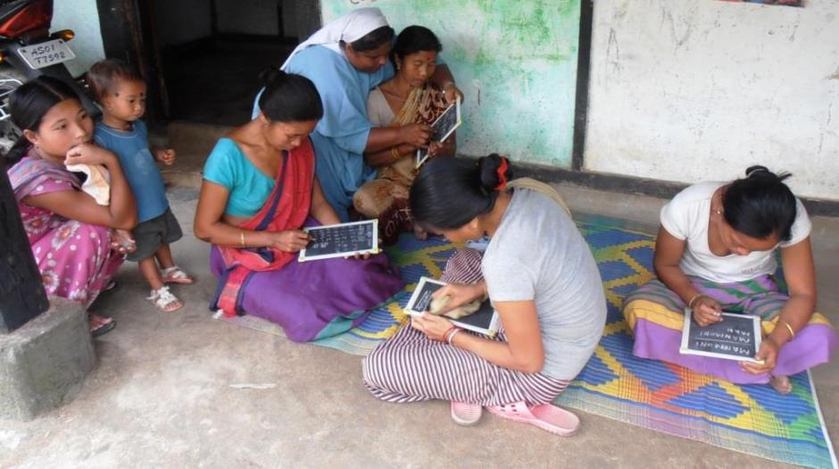 Women Learning to Read and Write in Diyun