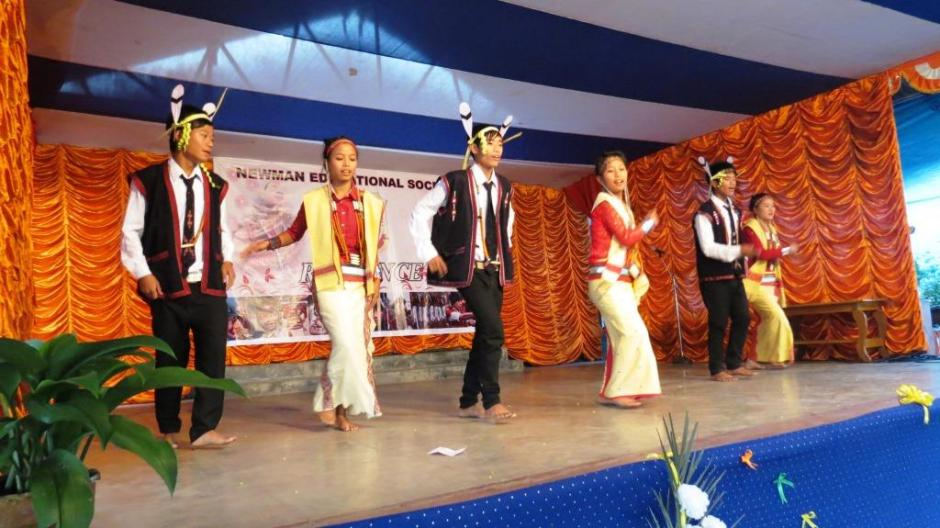 A Nocte Tribal Dance by the Students of Holy Rosary School, Changlang