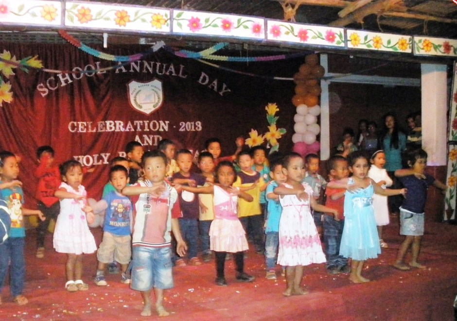 Children at the Annual Day Celebration, Holy Rosary Scl, Changlang