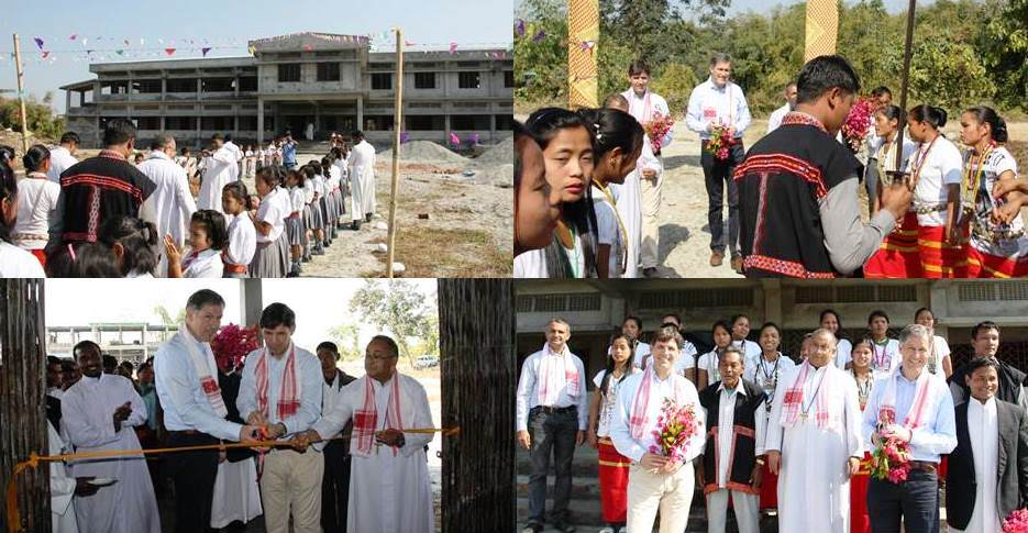 Presbytery and Boy's Boarding Blessed in Namsai