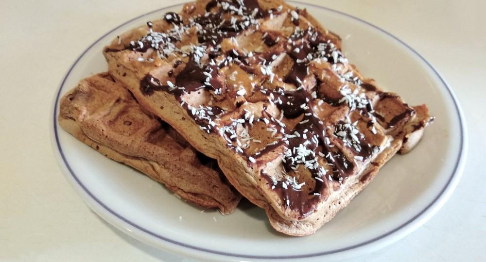 #Foodspiration Waffles de Claras e Aveia Saudáveis