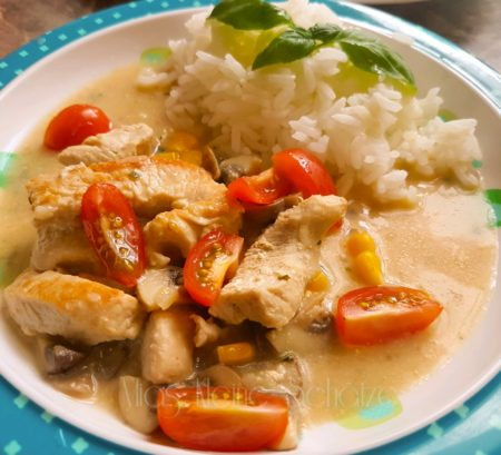 Putengeschnetzeltes mit Reis in Soja Sahne - Familien Rezepte