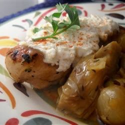 Cheese – Chicken With Artichokes And Goat Cheese