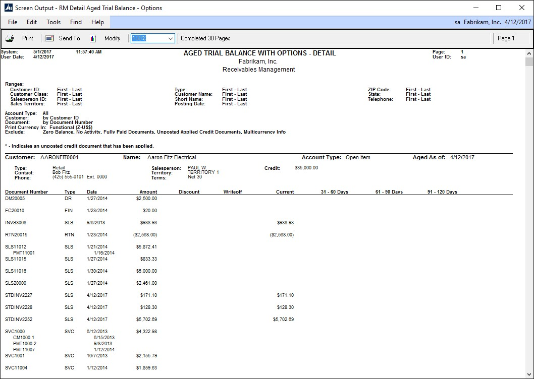 How to Customize Aging Buckets in Microsoft Dynamics GP