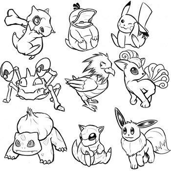 Pokemon Go Para Colorear E Imprimir