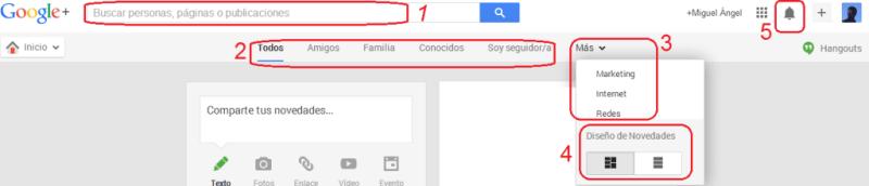 Heading de Google+