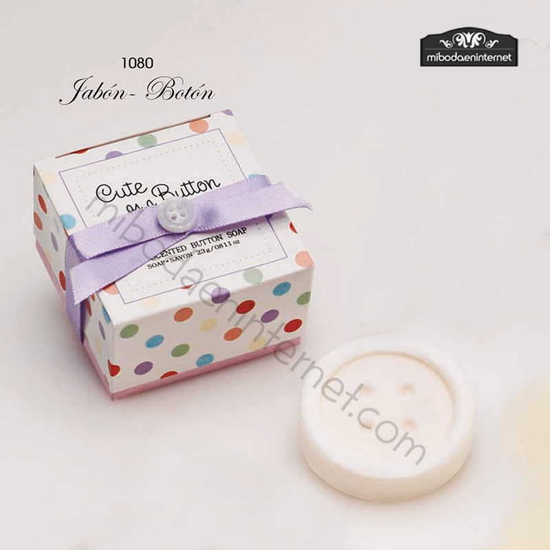 1080 Jabón Botón en caja regalo