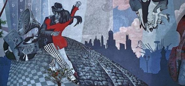 Arte Cultura Argentina - Musica Argentina - Tango - Mural San Telmo