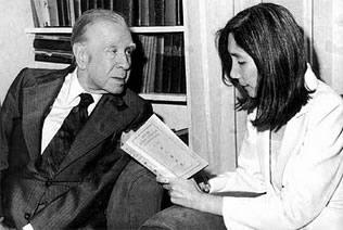 Borges y Maria Kodama