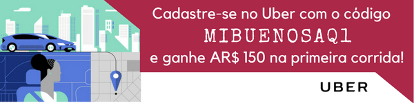 Cadastre-se no Uber com o código MIBUENOSAQ1 e ganhe $150 pesos na sua primeira corrida!