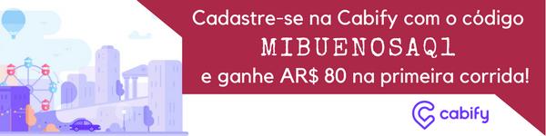 Cadastre-se na Cabify com o código MIBUENOSAQ1 e ganhe $80 pesos na sua primeira corrida!