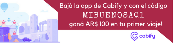 Coupon de descuento Cabify - Bajá la app de Cabify y con el código MIBUENOSAQ1 ganá AR$ 100 en tu primer viaje