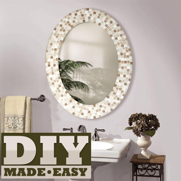 Make A Mosaic Mirror
