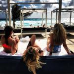 Playa Norte Isla Mujeres camastros