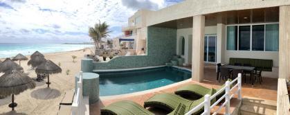 Beachfront Three Bedroom Villa cancun mexico2