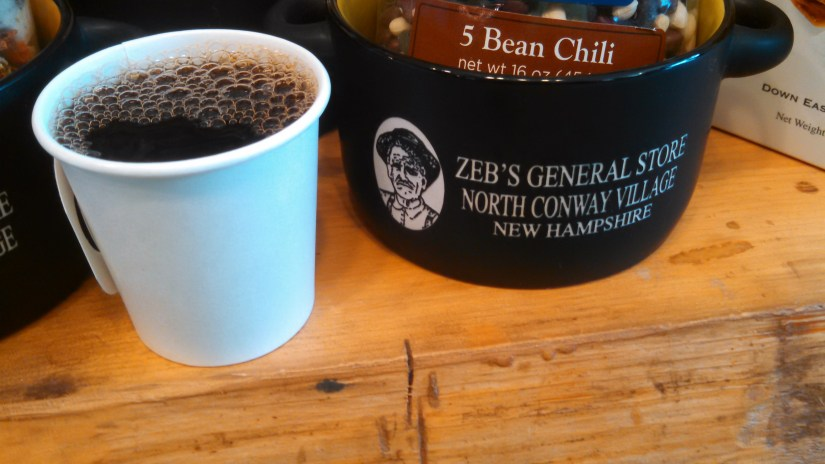 Coffee Samples at Zebs in North Conway New Hampshire