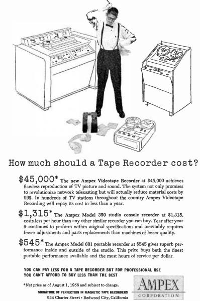 Ampex VR-1000 Advertisement 1956