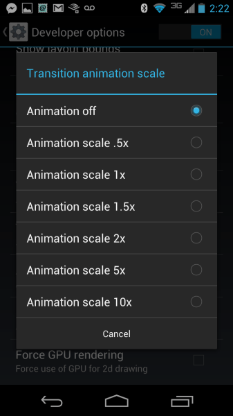 Transition Animation Scale