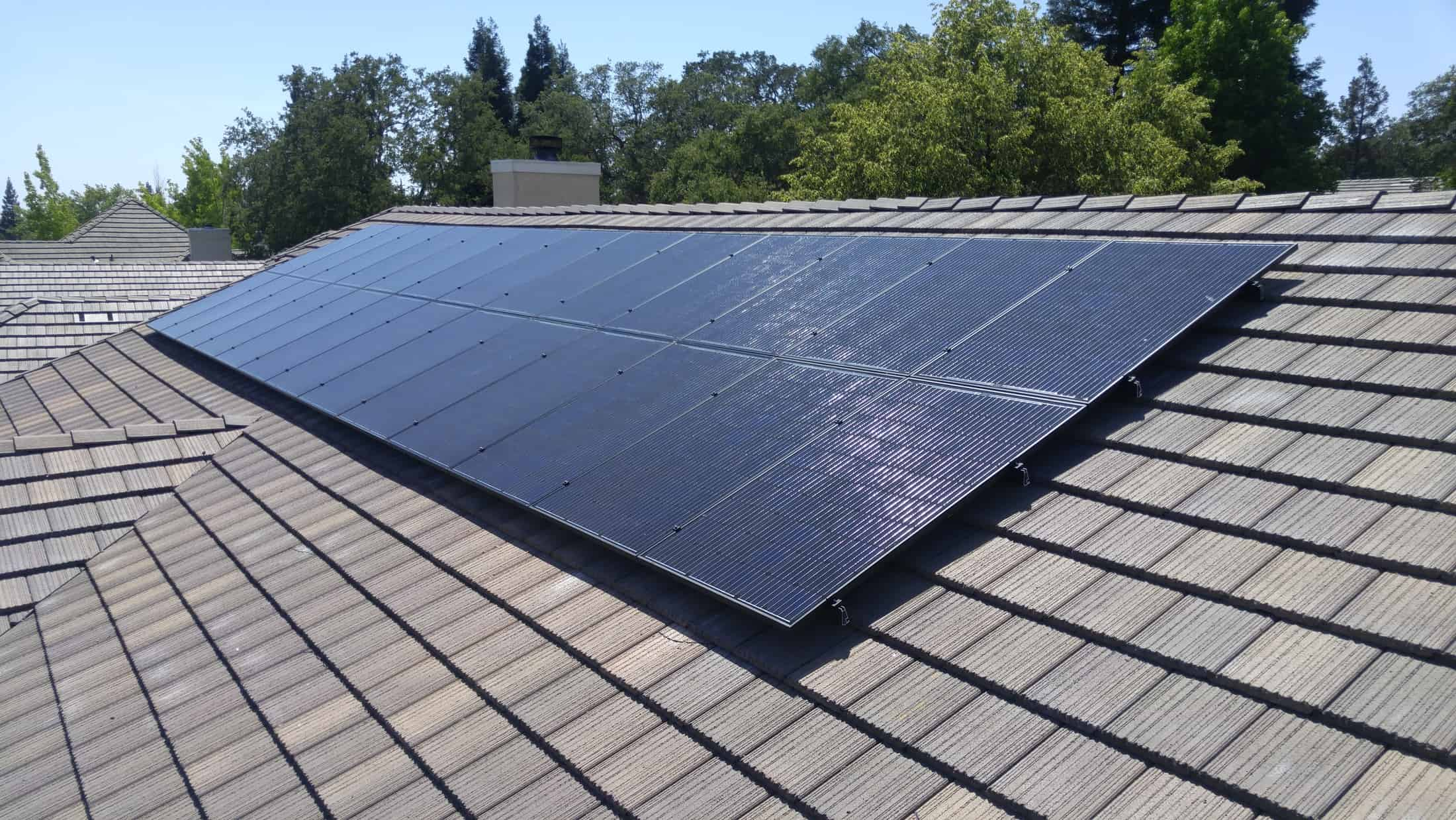 install on concrete tiles solar