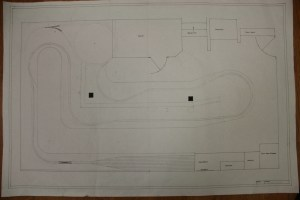 The basic layout drawn in