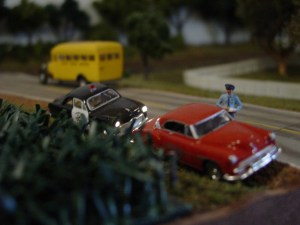 One of those fun little scenes that you discover as you move around the layout.