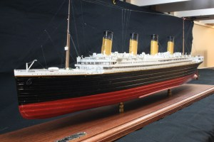 HMS Titanic, bow looking to stern.