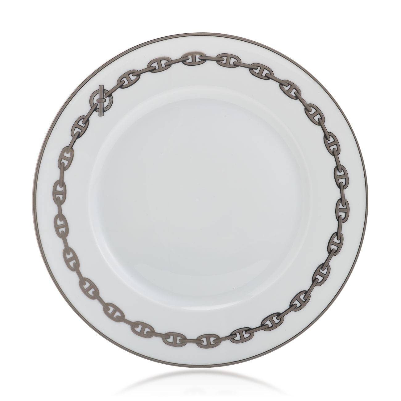Herms Chane D'Ancre Platinum American Dinner Plate