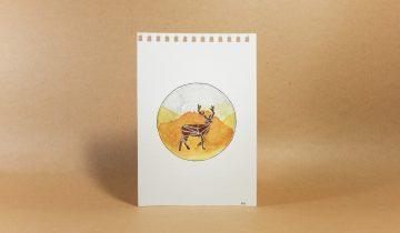 Original artwork | Walking Deer