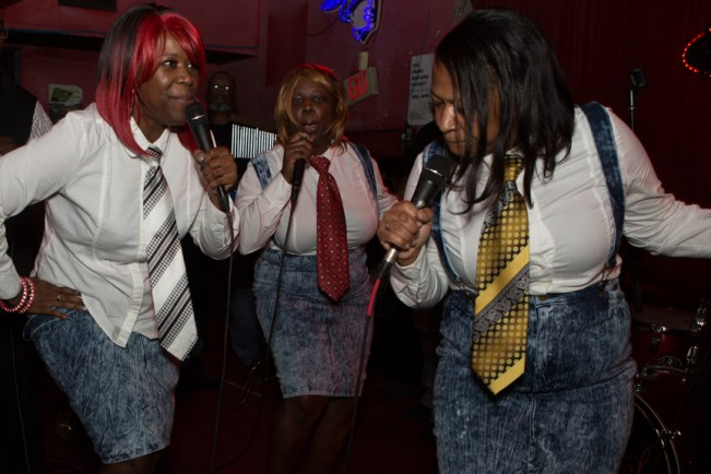 Alexis, Trelle and Mice belt it out at the Continental Club Monday.