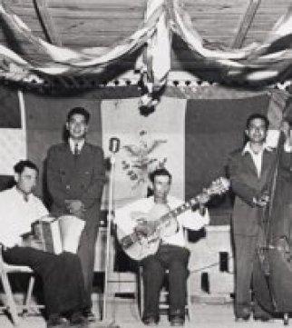 Camilo Cantu on accordion 1940s.